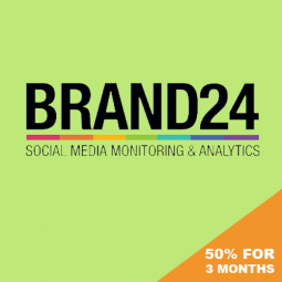 BRAND24 – CLICK FOR 50% OFF FIRST 3 MONTHS! A monitoring tool for monitoring keywords on the web and social media.