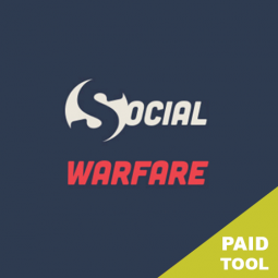 SOCIAL WARFARE – One of the best social sharing plugins.