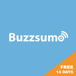 BUZZSUMO – FREE 14-DAY TRIAL OF PRO! Content research tool to identify most shared content, trending content, find influencers, etc.
